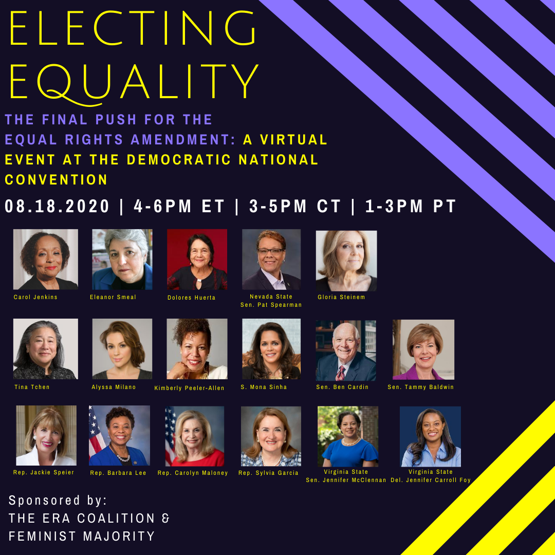 Special Guests Announced! Electing Equality: The Final Push for theERA
